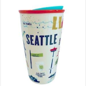 Starbucks SEATTLE Traveler Ceramic Tumbler 12oz